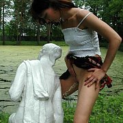 Pissing On A Statue