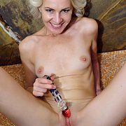 Blonde Mature Toying Her Twat