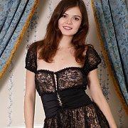 Erotic Brunette Strips Off Lingerie