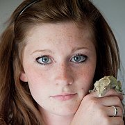 Freckled Cutie With Her Reptile
