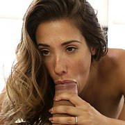 Freckled Face Eva Lovia Sucking Cock