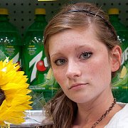Pretty Freckles Girl Teasing In Public