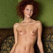 Tiny Tits Freckled Redhead Skinny Model