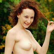 Pale Redhead With Freckles Naked Outside