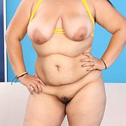 Fat Latina Girl Strips Naked