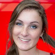 Smiling Freckles Brunette With Blue Eyes