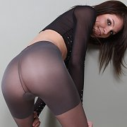 Skinny ass gal in pantyhose