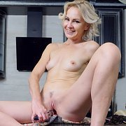 Toy Banging Blonde Mature