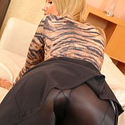 Black Tights Teasing Blonde