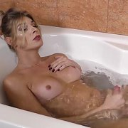 Bath Time Jerk Off with Angelina Torres