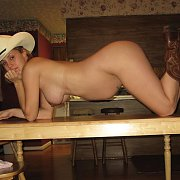 Pregnant Country Girl In Cowboy Boots