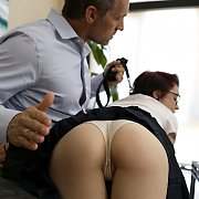 Uniform Teen Gets Punished By Stepdad