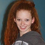 Sweatshirt Wearing Freckles Redhead Coed