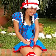 Braided Pigtails Latina Teen Cosplay Teasing