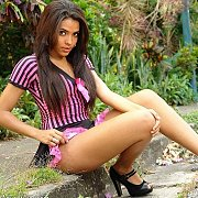 Lusty Young Latina Strips Down To Panties