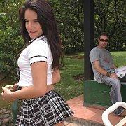 Coed Latina Schoolgirl Sex Fantasy Outside