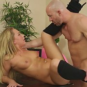 Blonde Coed Bangs Her Friends Dad