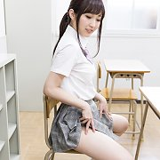 Asian Schoolgirl Strips Off Uniform