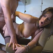 Big Titties Milf In Fishnets Gets Fucked