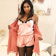 Amber Hill Teases In Lingerie And Stockings