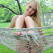 Cute Southern Blonde Coed Naked In Hammock