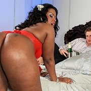 Thick Booty Black Milf Goes White