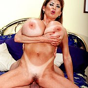 Huge Tits Asian Milf With Tan Lines Banged