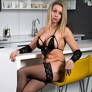 Stockings And Lingerie Milf Strip And Fingers