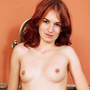 Red Hair Coed Girl Katlyn Spreading