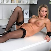 Great Legs Stockings Milf On The Counter