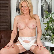 British Blonde Mom Strips