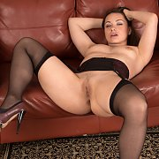 Open Legs Hot Milf In Garter Stockings