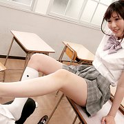 Japan Schoolgirl Gives A Foot Job