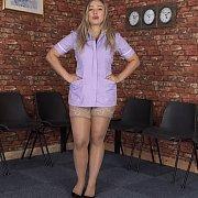 Lace Top Stockings Nurse Reveals Underwear