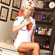 Hot Legs Milf Nurse