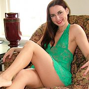 Lace Green Lingerie Milf