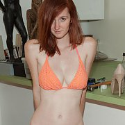 Sweet Knit Bikini Redhead With Freckles