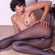 Silky Pantyhose Amateur Lady On The Floor
