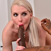 UK Blonde Milf Interracial Sex