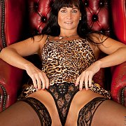 Hot Milf Cougar In Stockings Flashing