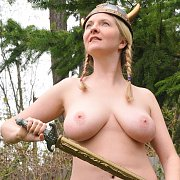 Curvy Mature Viking With Braided Pigtails