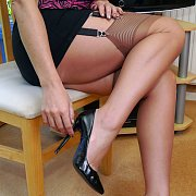 Tasty Legs Lady In Stockings And High Heels