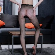 Tiny Ass Teen Petite In Net Nylons