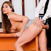 Naughty Secretary Goes ATM With Her Boss