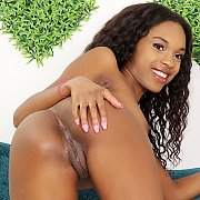 Ebony Coed Displays Her Tits And Pussy with Armani Monae