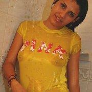 Wet Tshirt Latina Teaser In Shower