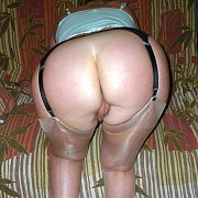 Round Ass Milf In Garter Stockings Bending Over
