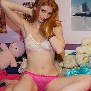 Lace Underwear Redhead Girl