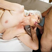 Granny Norma's Relaxed Massage Ends In Fucking