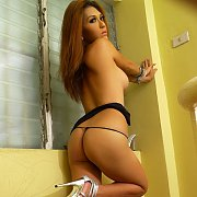 Vintage Lady Laying Naked On The Bed